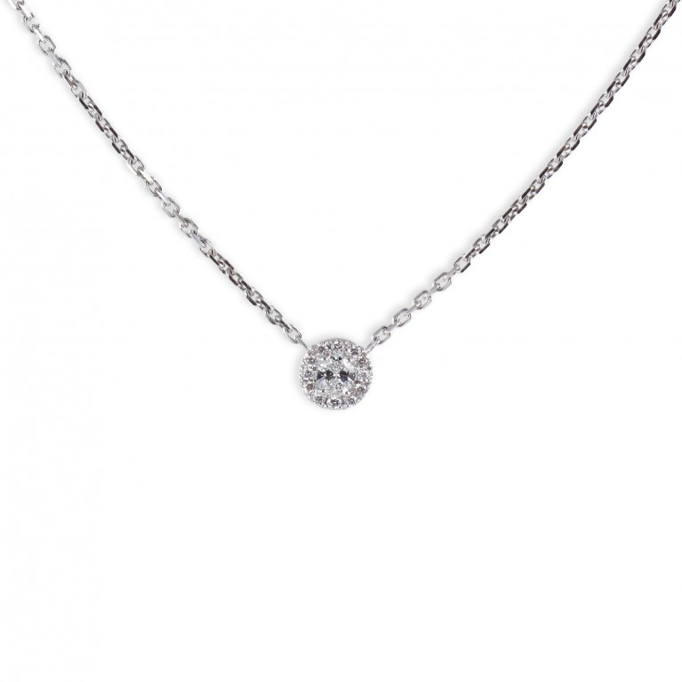 COLLIER SOLITAIRE ROND