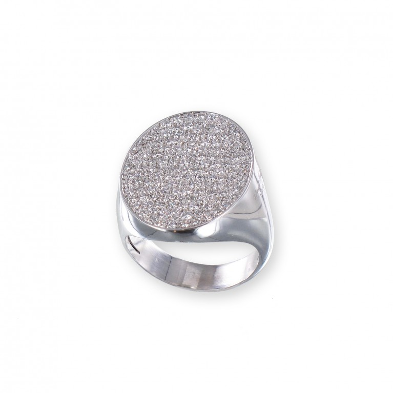 BAGUE CHEVALIERE OVALE