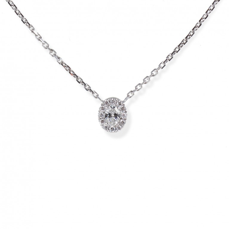 COLLIER SOLITAIRE OVALE