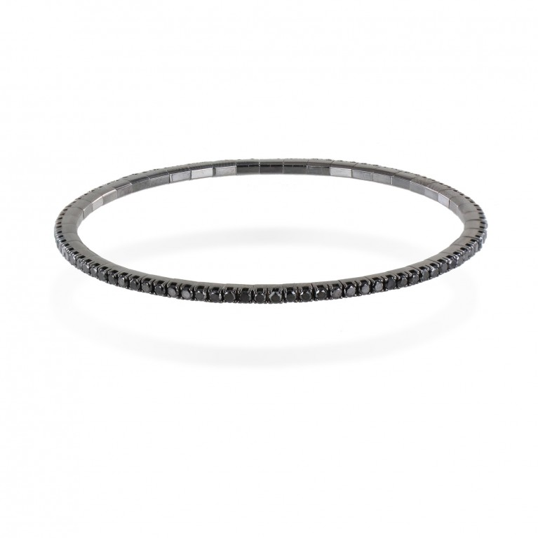 BRACELETS ELASTIQUE DIAMANTS NOIR